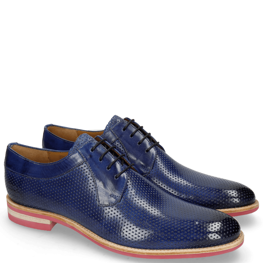 Derby Schuhe Clint 24 Perfo Sapphire Modica