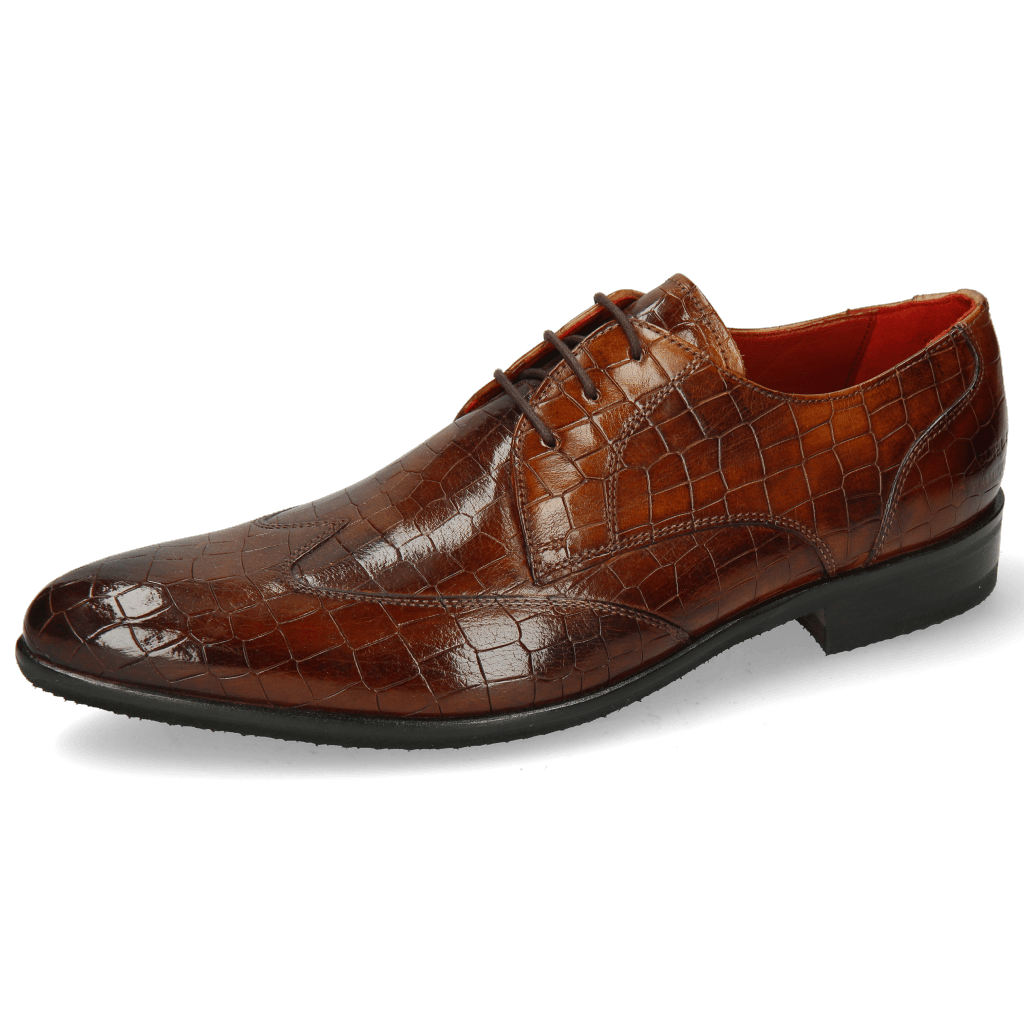 Derby Schuhe Toni 2 Crock Wood Lining Red Modica Navy