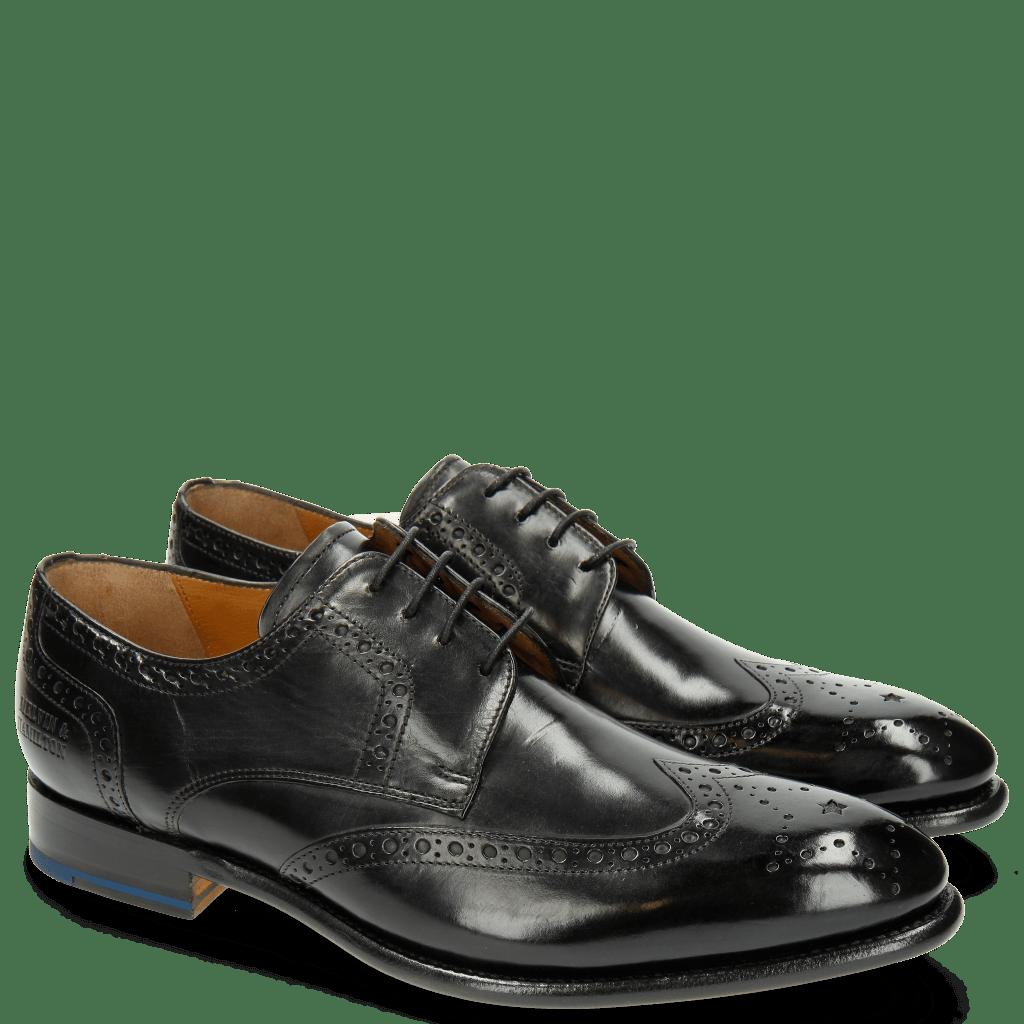 Derby Schuhe Lionel 4 Black LS