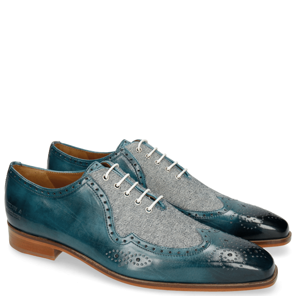 Oxford Schuhe Lance 37 Mid Blue Denim