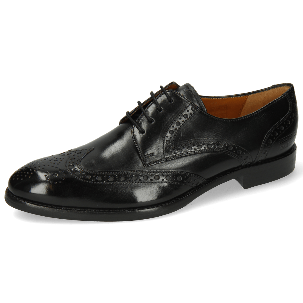 Derby Schuhe Kane 5 Black Lining Rich Tan