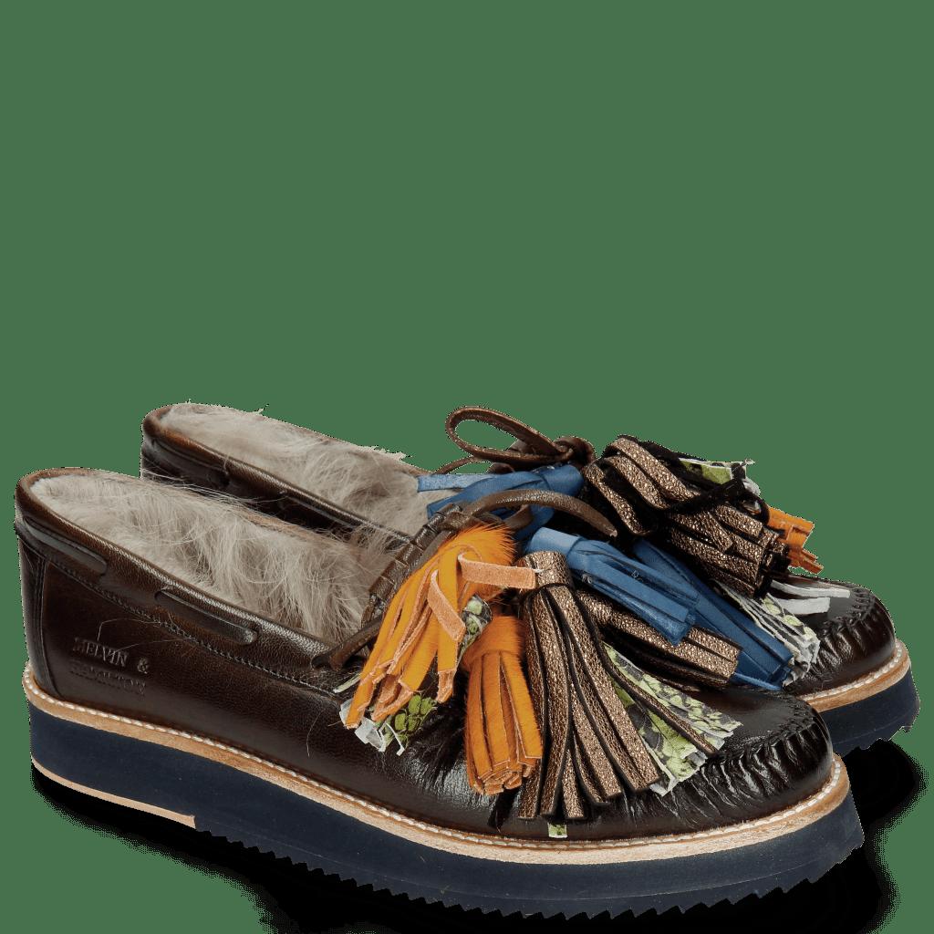 Loafers Bea 4 Dark Brown Fur