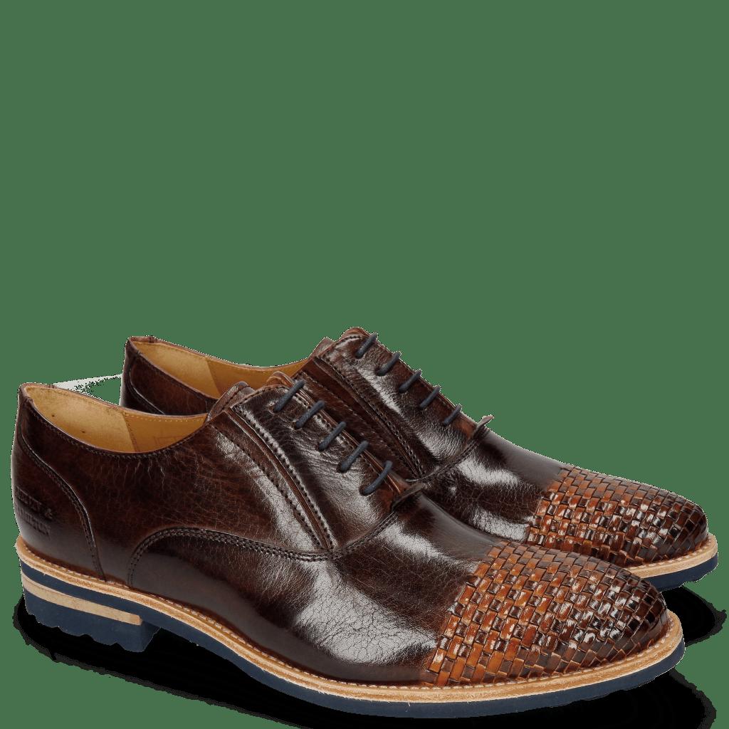 Oxford Schuhe Brad 8 Mogano Interlaced Winter Orange