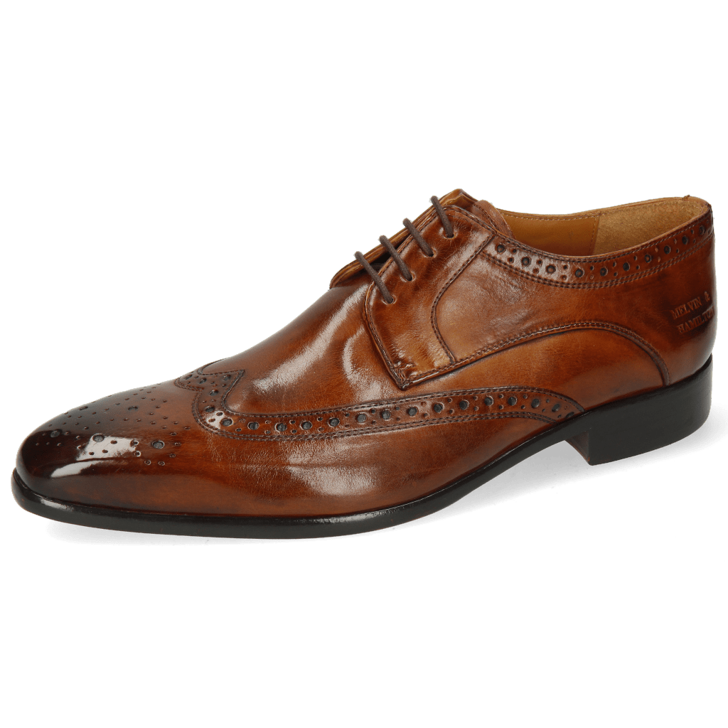 Derby Schuhe Lewis 3 Imola Wood Lining Rich Tan