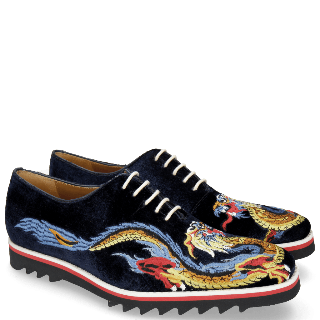 Oxford Schuhe Clark 25 Velluto Midnight Dragon