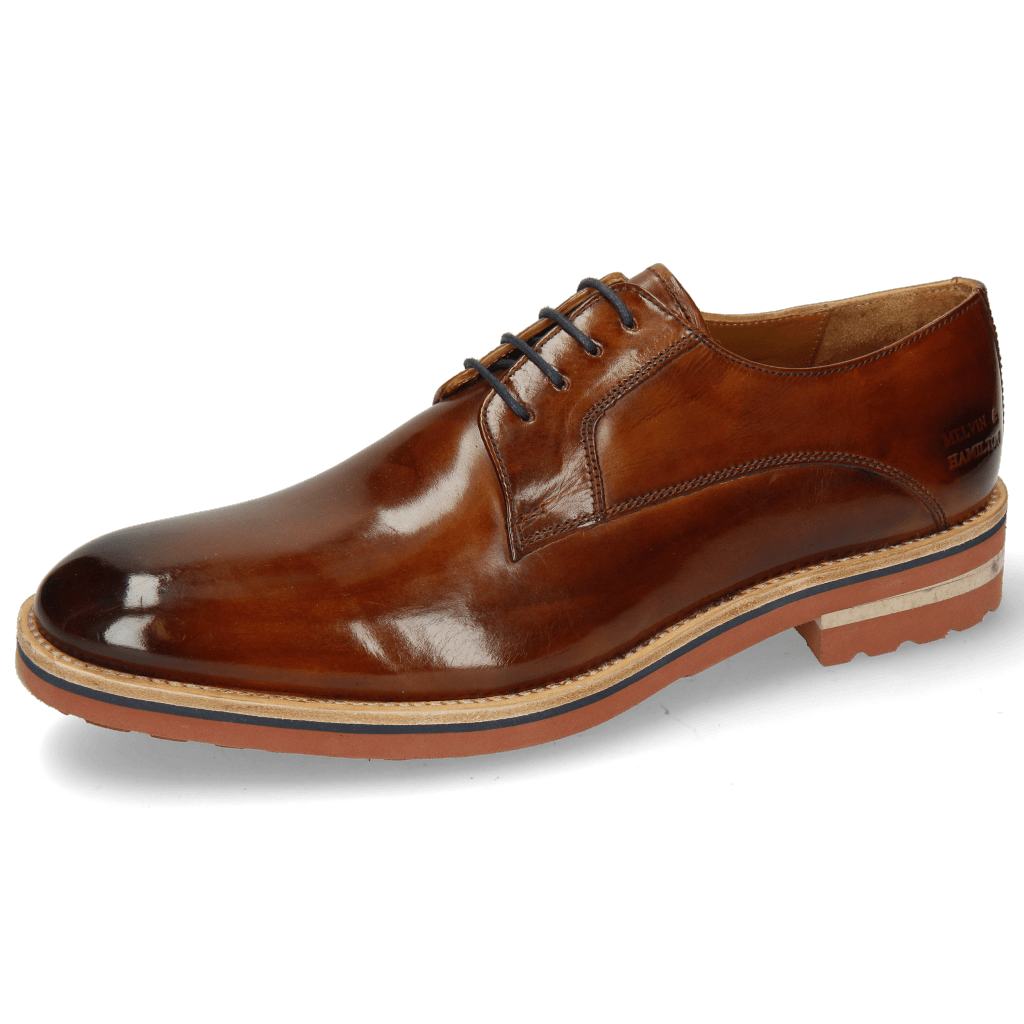Derby Schuhe Eddy 8 Wood Laces Navy