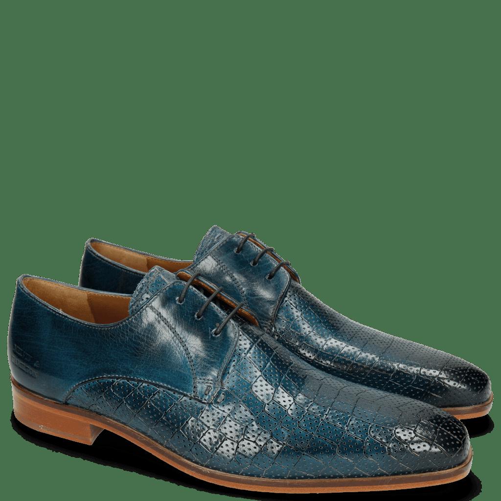Derby Schuhe Lance 8 Crock Perfo Mid Blue