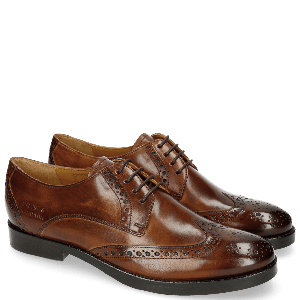 Derby Schuhe Amelie 3 Wood HRS Thick Brown