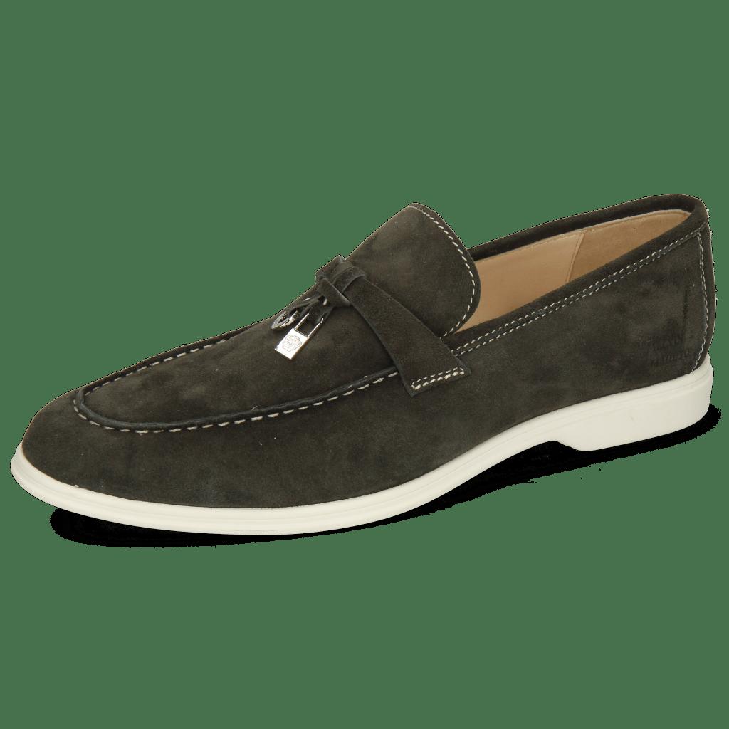 Loafers Earl 3 Suede Pattini Light Fante