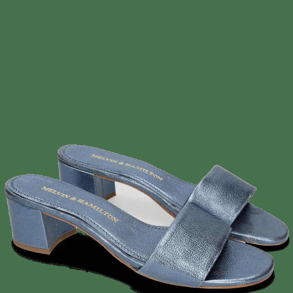 Pantoletten Alice 1 Woven Cherso Silver Blue