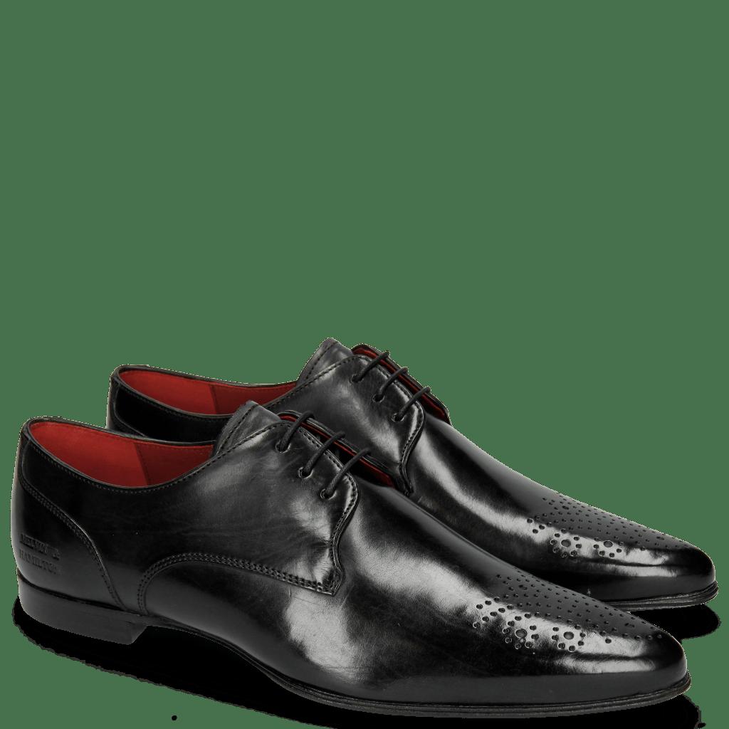 Derby Schuhe Sidney 6 Black