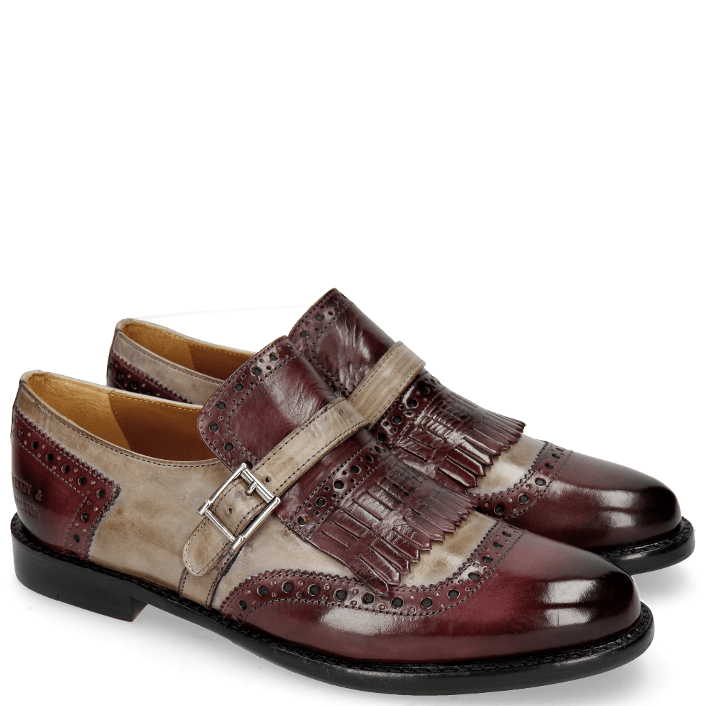 Monk Schuhe Selina 2 Deep Pink Oxygen