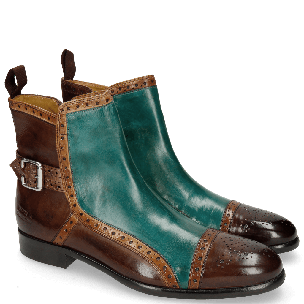 Stiefeletten Henry 2 Dark Brown Tan Green