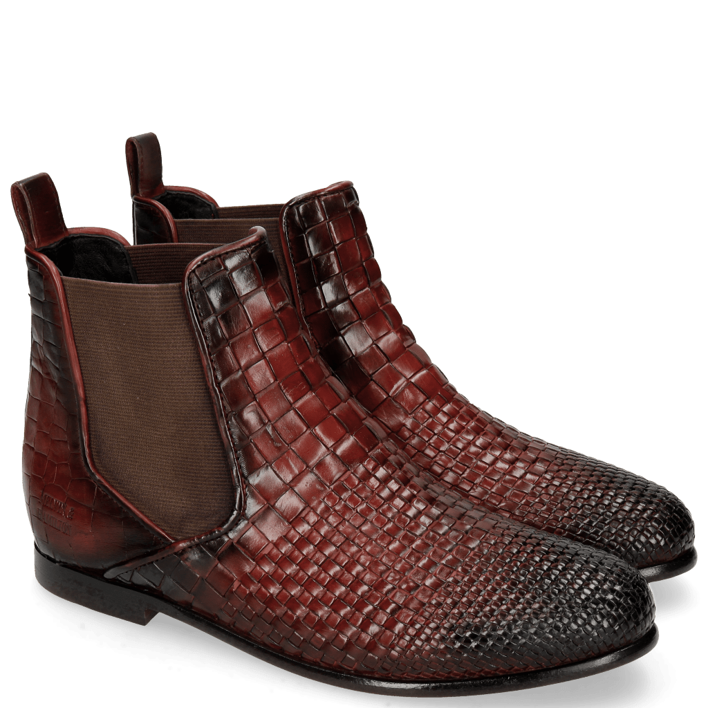 Stiefeletten Lina 2 Interlaced Ruby