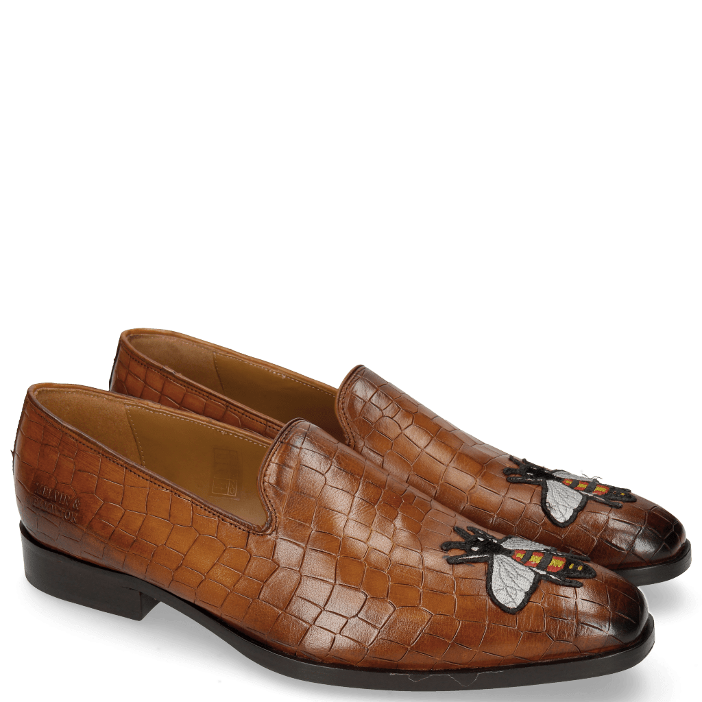 Loafers Prince 1 Crock Wood Toe Patch Bee