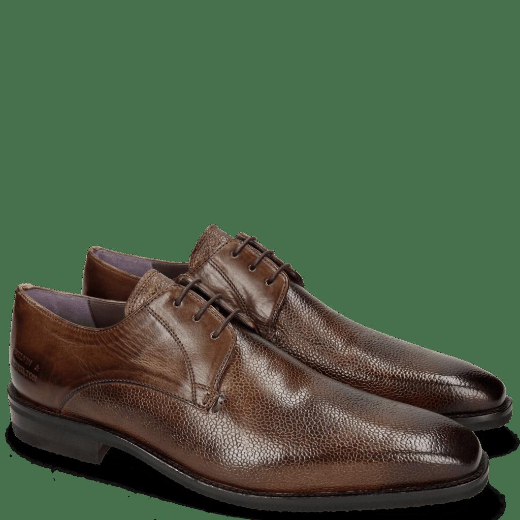 Derby Schuhe Lance 8 Scotch Grain Chestnut