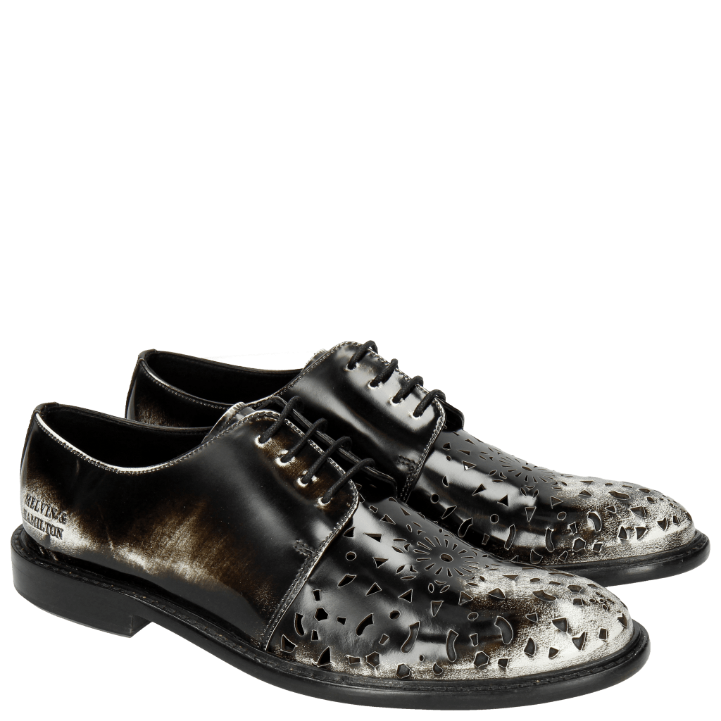 Derby Schuhe Sally 41 Brush Off White