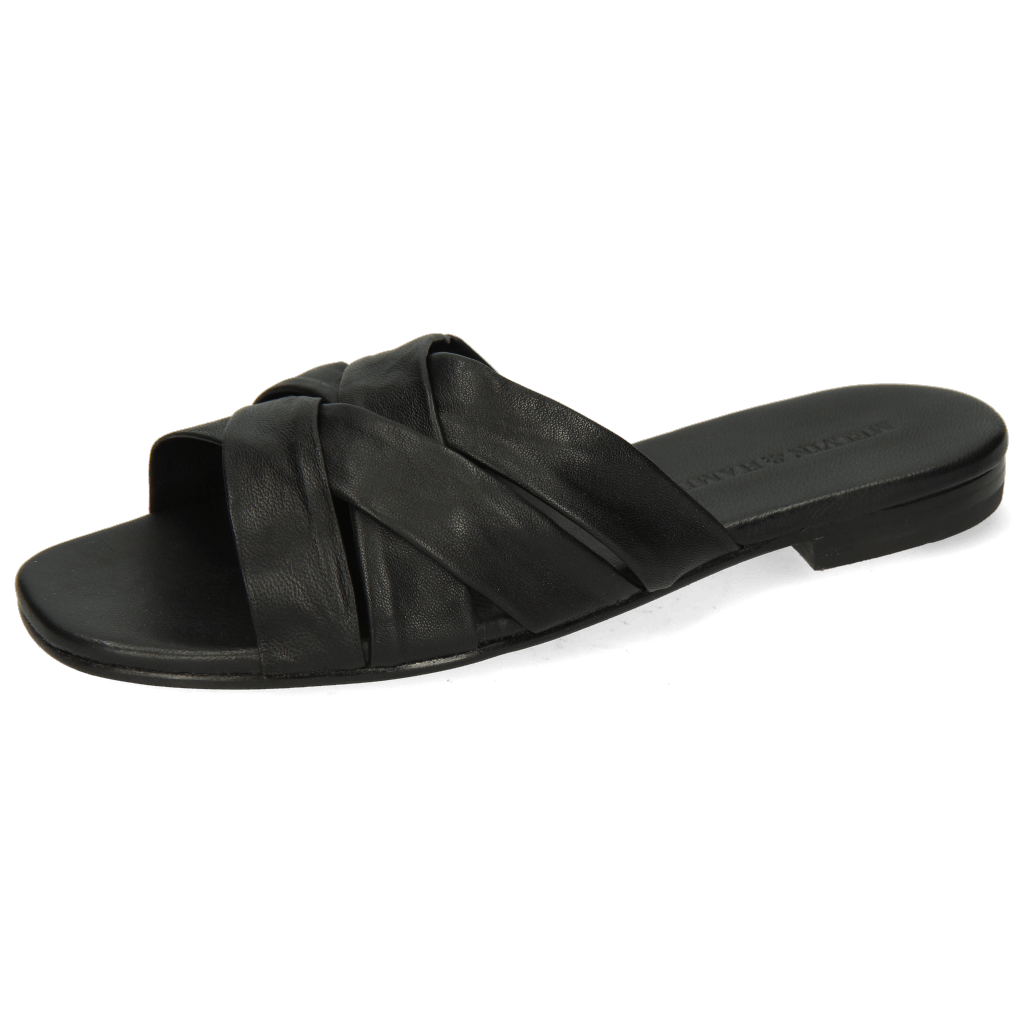 Pantoletten Elodie 46 Nappa Black LS Flex