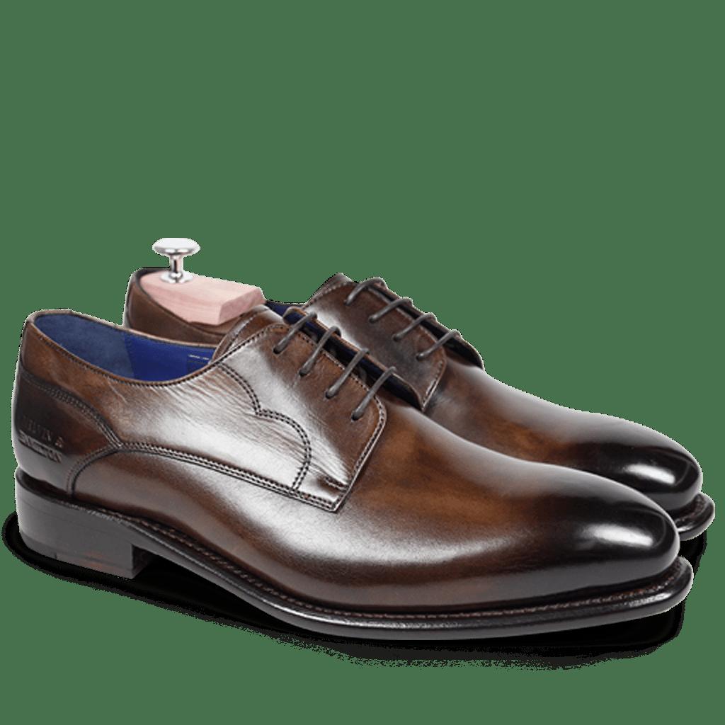 Derby Schuhe Charles 1 Crust Dark Brown LS