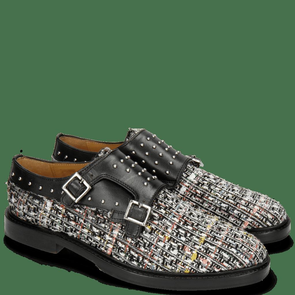 Monk Schuhe Katrin 1 Hybrid Textile Black