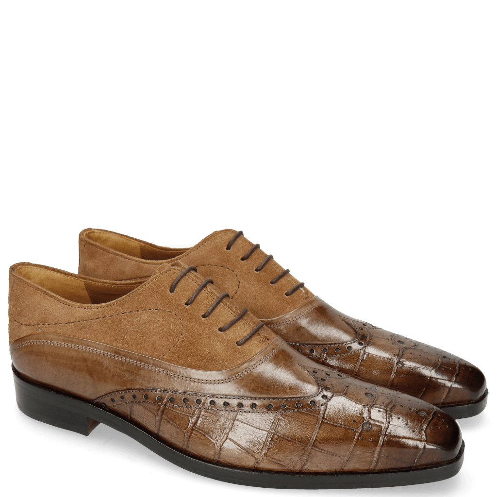 Oxford Schuhe Lewis 4 Big Croco New Taupe