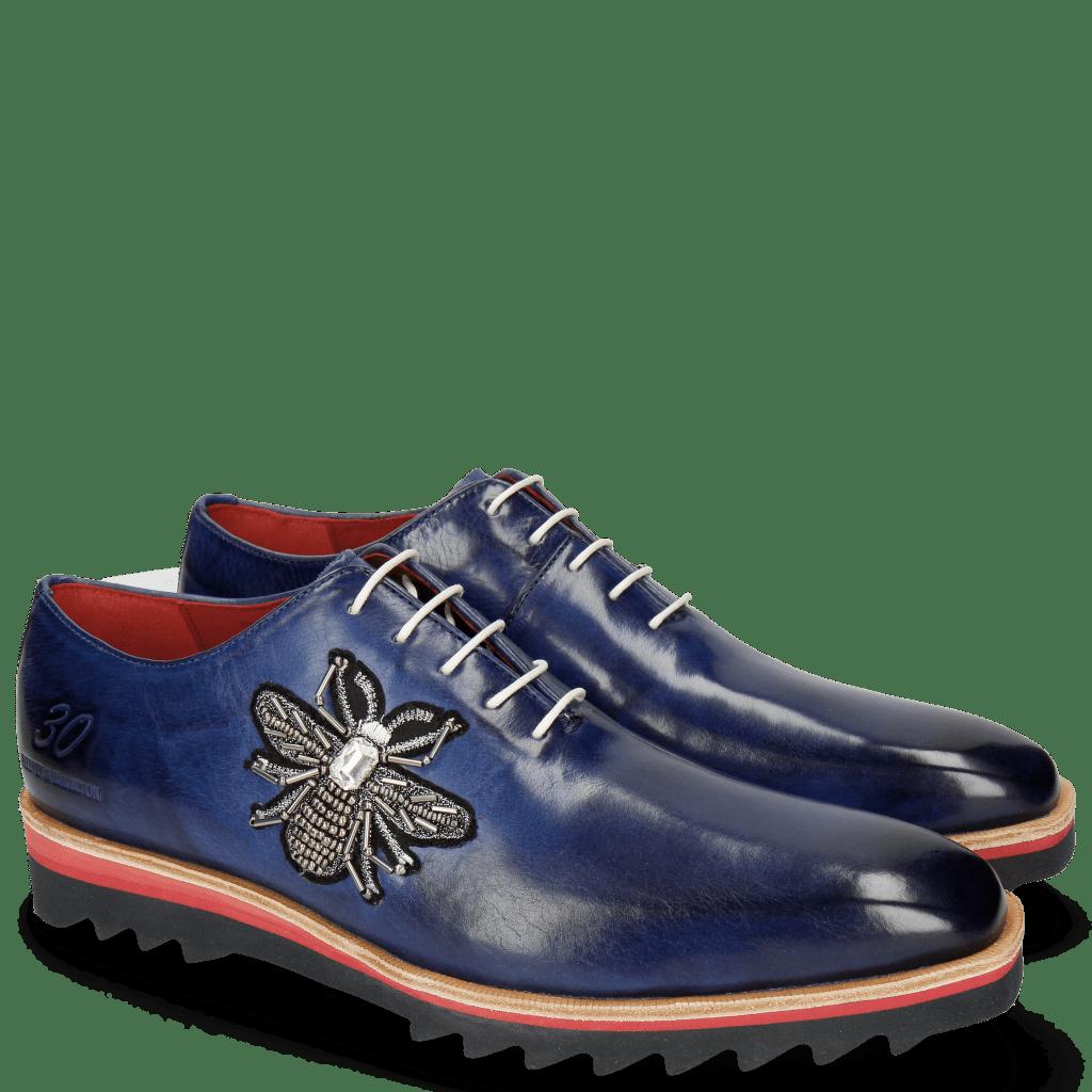 Oxford Schuhe Jeff 26 Saphir Patch Bee Stone