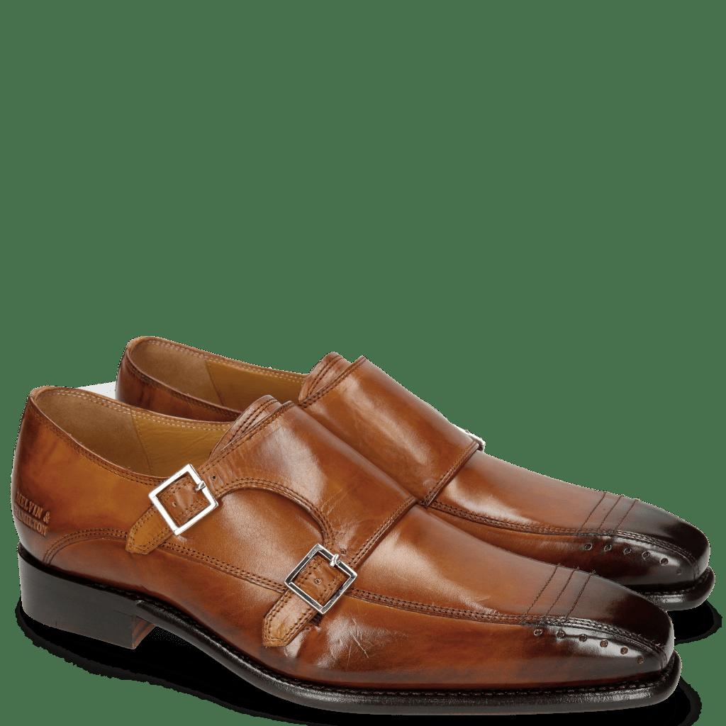 Monk Schuhe Stanley 4 Tan LS Brown