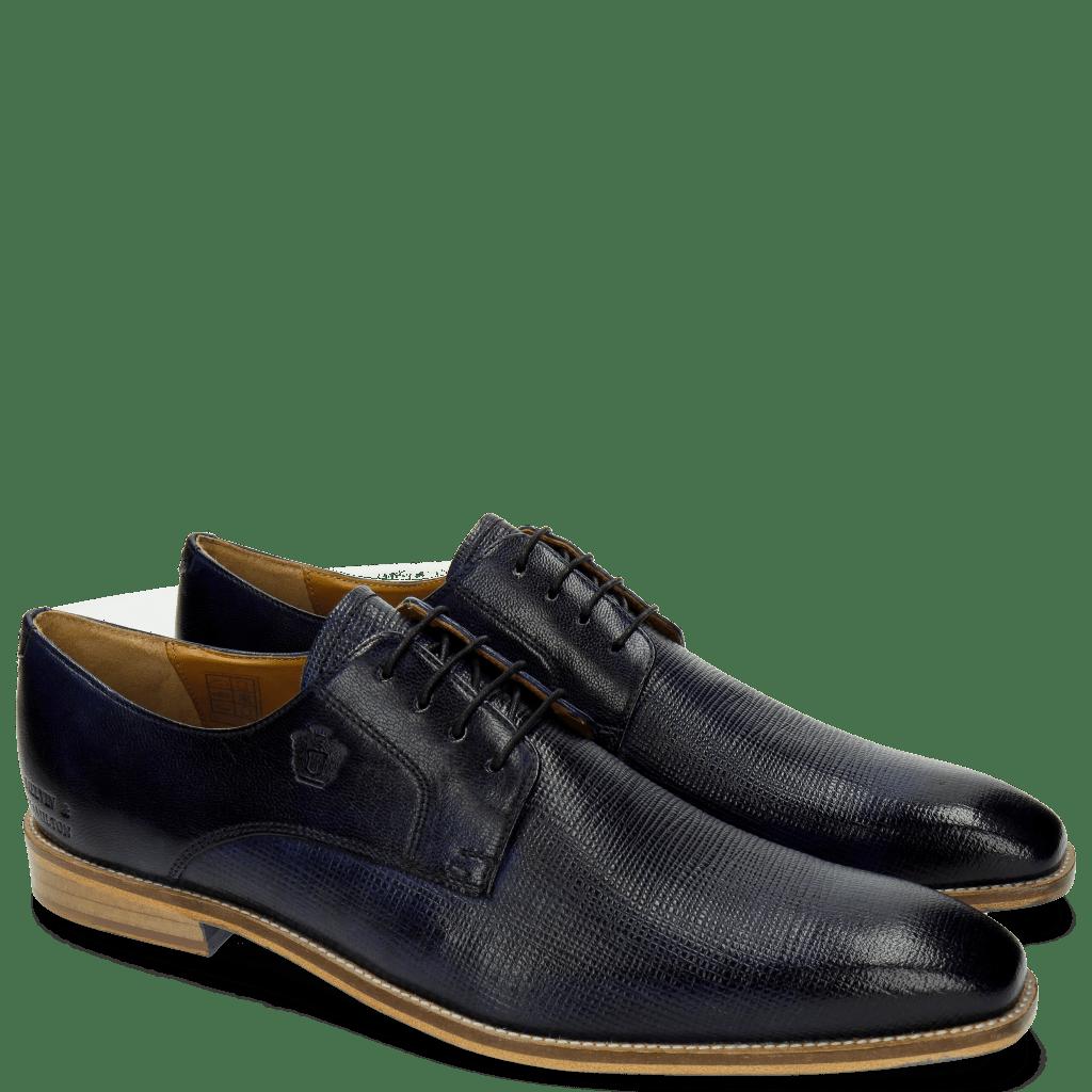 Derby Schuhe Martin 1 Venice Haina Navy