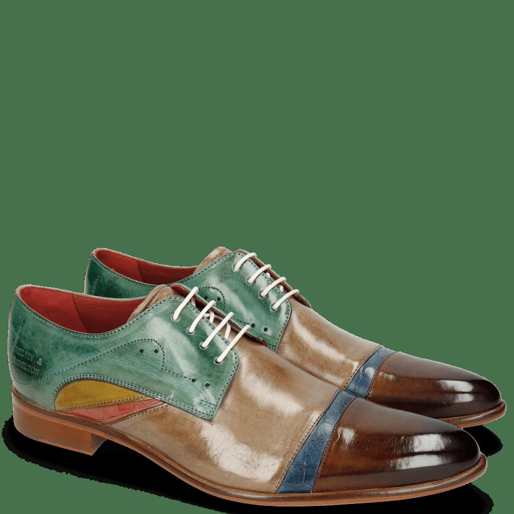 Derby Schuhe Toni 39 Nougat Crock Wind Digital Earthly Olivine Bio Algae