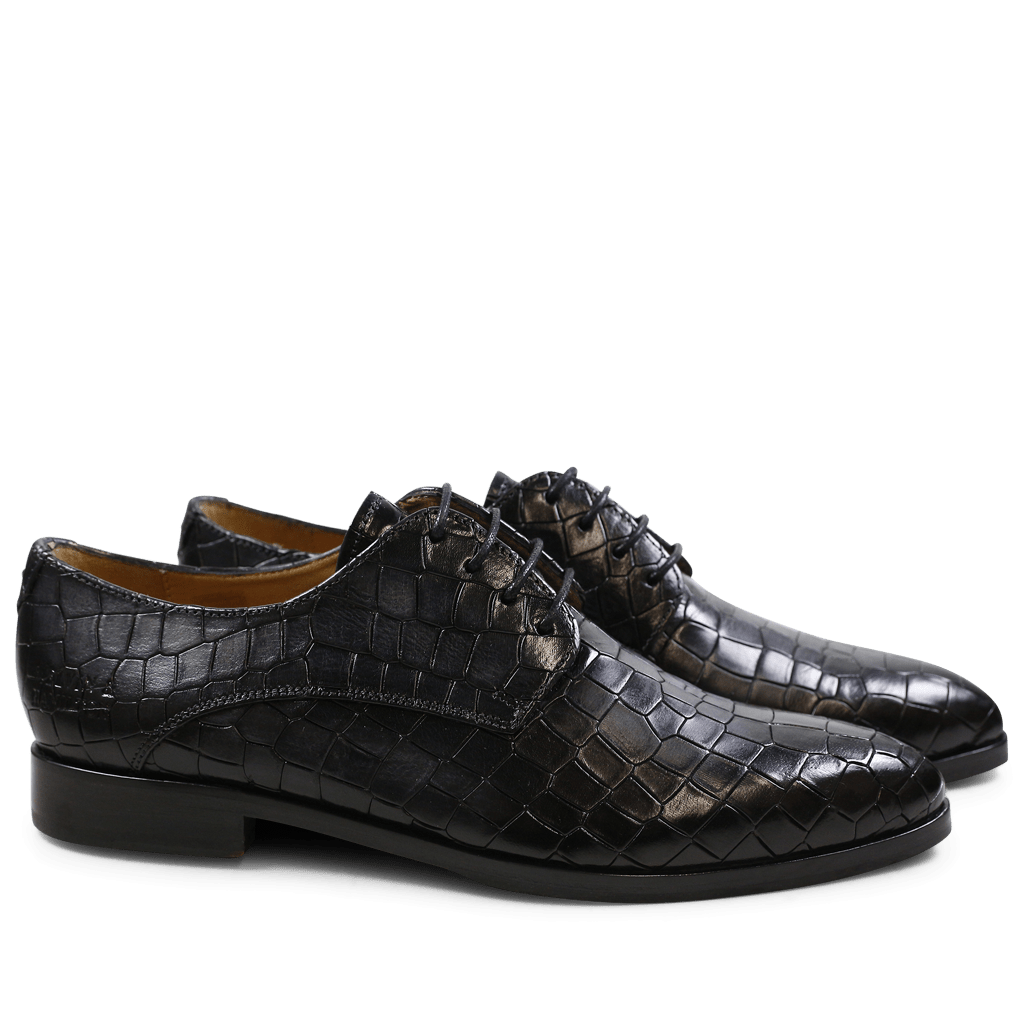 Derby Schuhe Jessy 5 Crock Black HRS