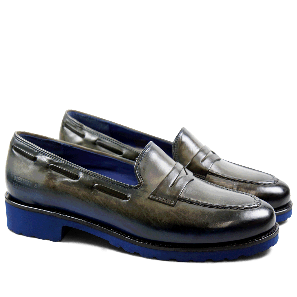 Loafers Kelly 8 Crust Grey Blue Finish WL Blue