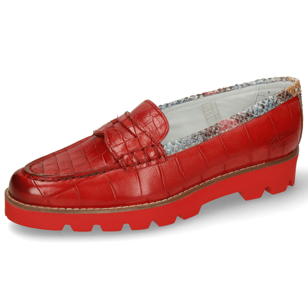 Loafers Mia 1 Turtle Crock Ruby Binding Snake