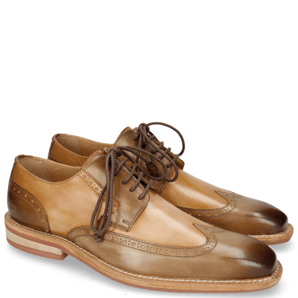 Derby Schuhe Marvin 13 Mid Brown Tan