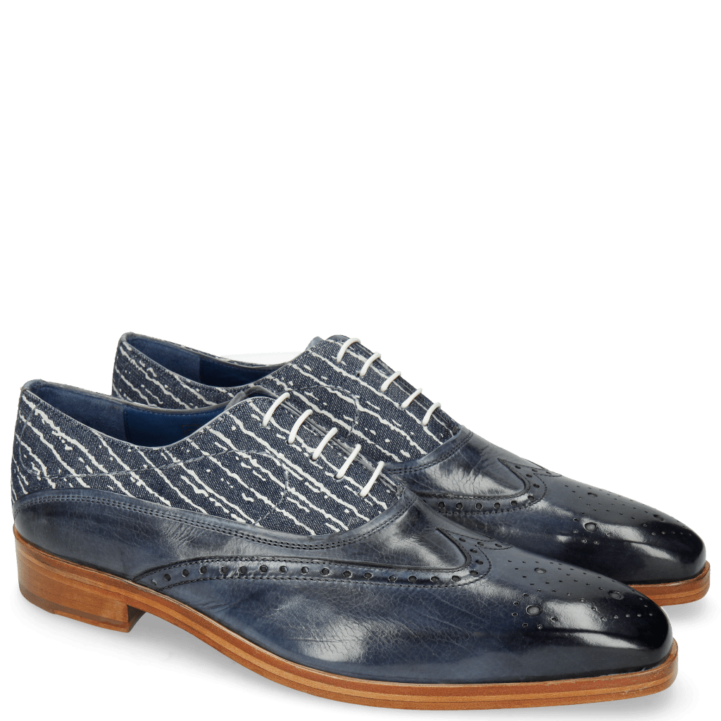 Oxford Schuhe Lewis 4 Moroccan Blue Denim