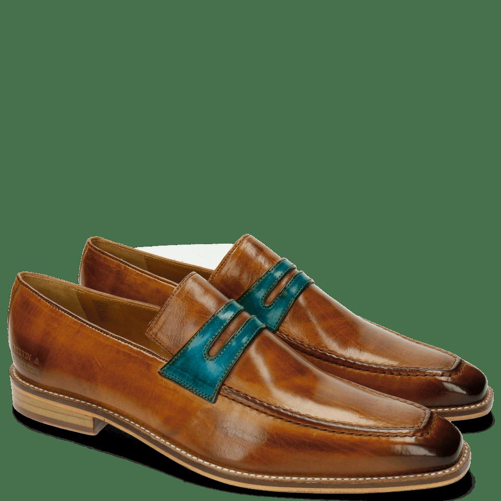 Loafers Leonardo 4 Tan Ice Blue