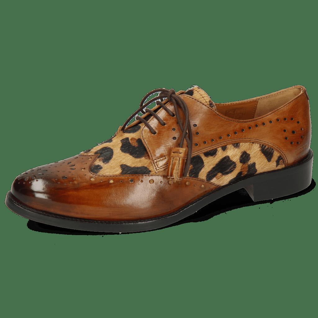 Derby Schuhe Betty 3 Wood Hairon Tanzania
