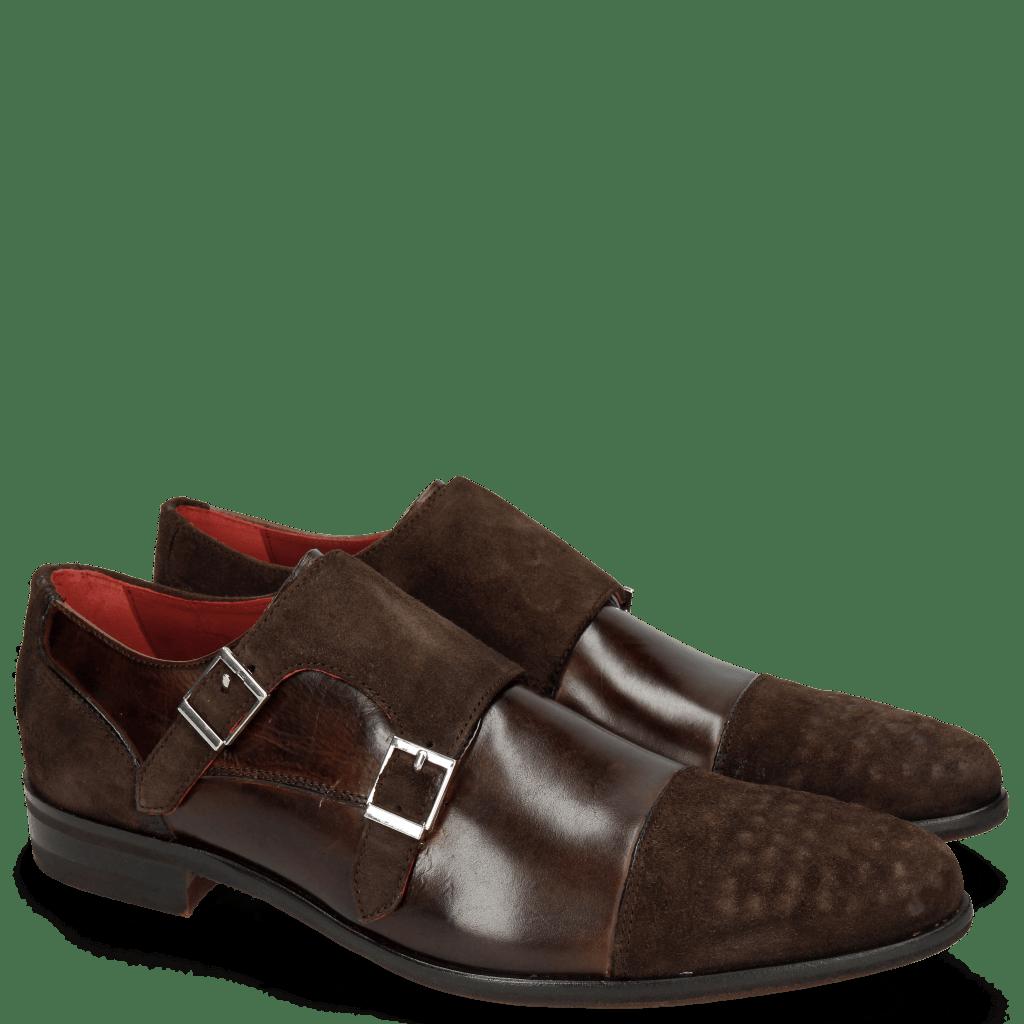 Monk Schuhe Toni 17 Lima Espresso Dark Brown