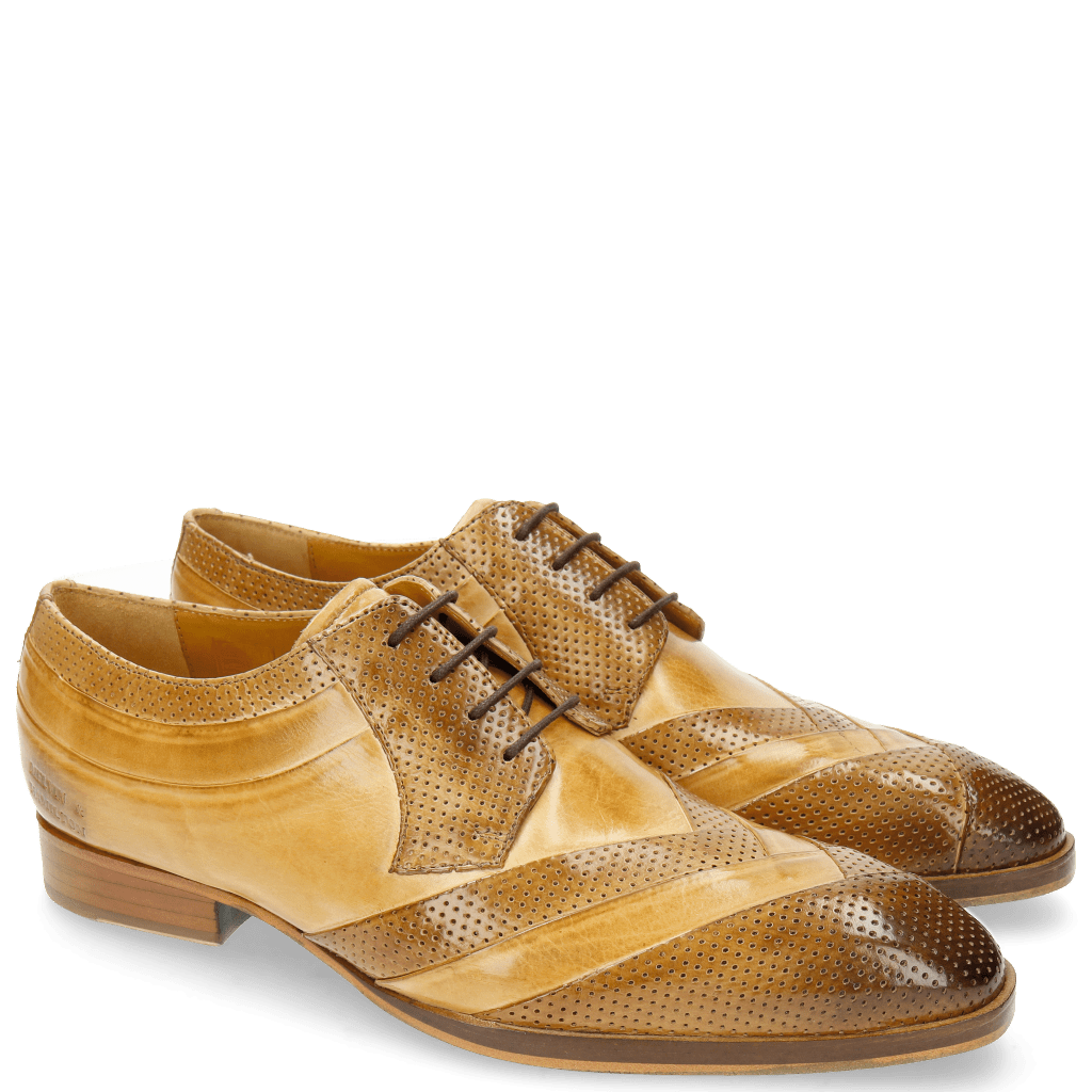 Derby Schuhe Ricky 8 Perfo Cashmere Nude