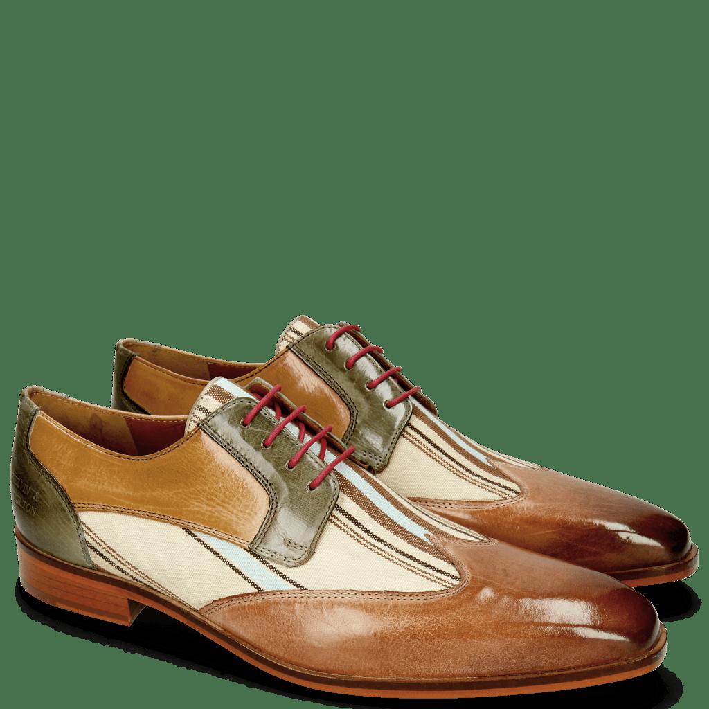 Derby Schuhe Lance 9 Corda Textile Stripes