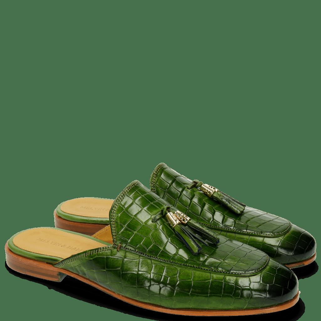 Pantoletten Clive 5 Crock Green Tassel Green