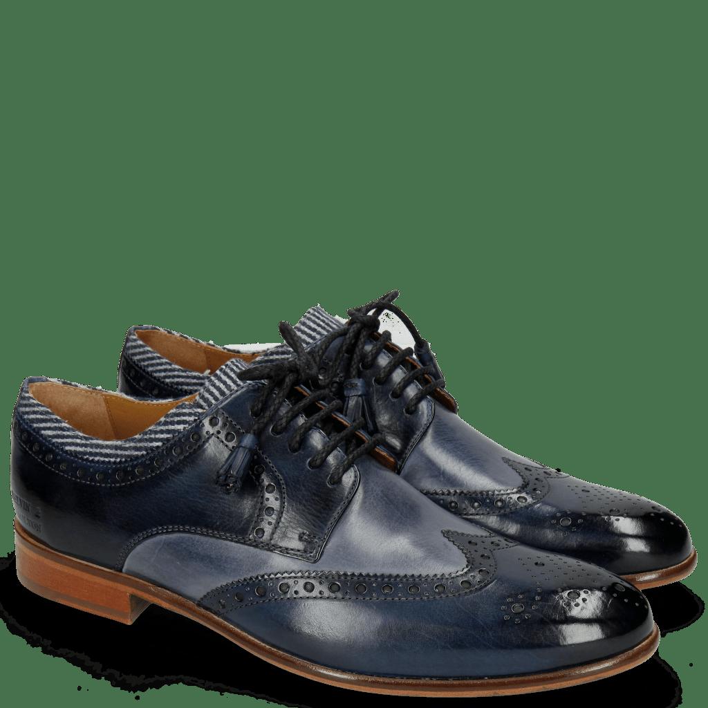 Derby Schuhe Henry 23 Navy Blue Sky Tassel