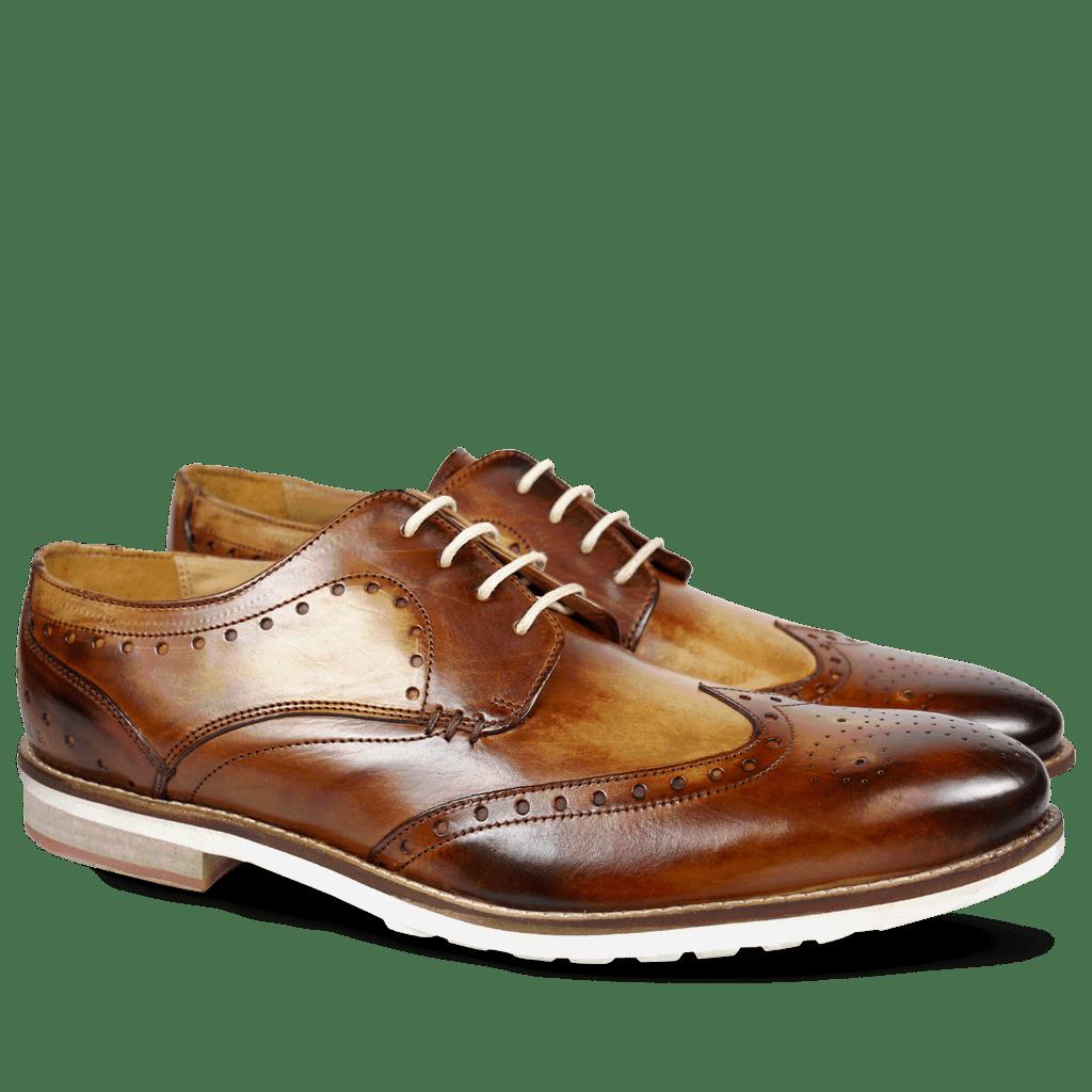 Derby Schuhe Scott 2 Crust Washed Tan WL
