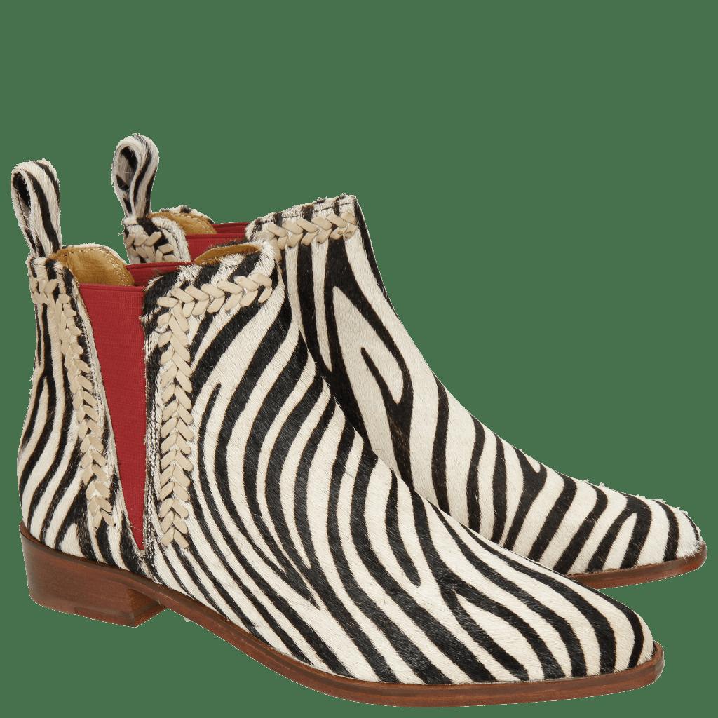 Stiefeletten Marlin 10 Hairon Zebra Vacchetta