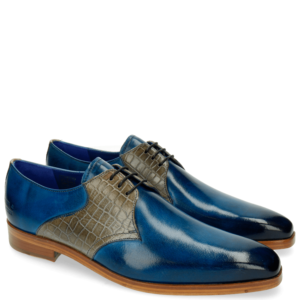 Derby Schuhe Lewis 29 Rocco Bluette Morning Grey