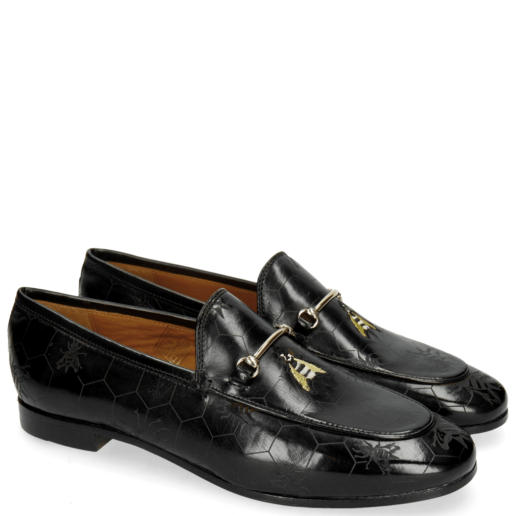 Loafers Scarlett 1 Black Lasercut Bee