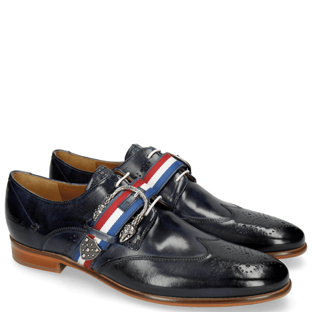 Derby Schuhe Clint 2 Navy Strap