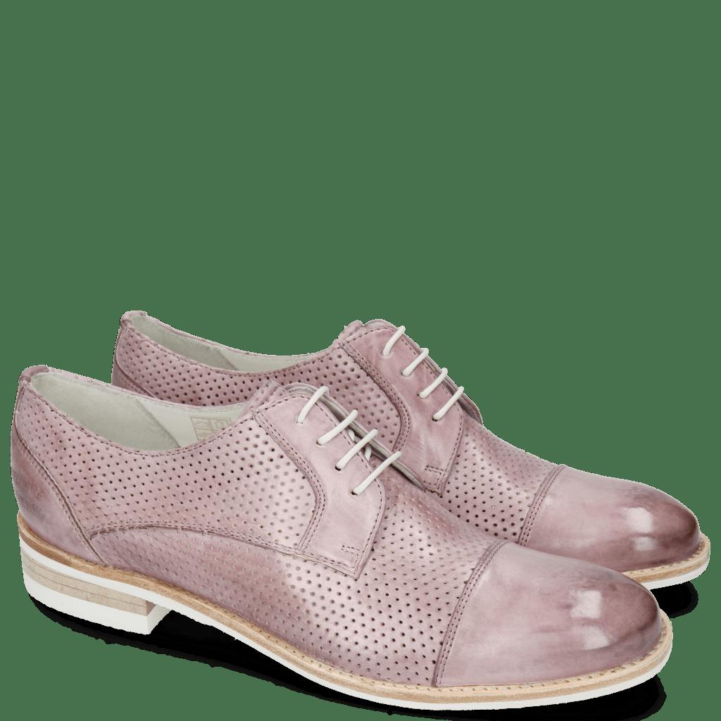 Derby Schuhe Amelie 2 Vegas Perfo Light Purple