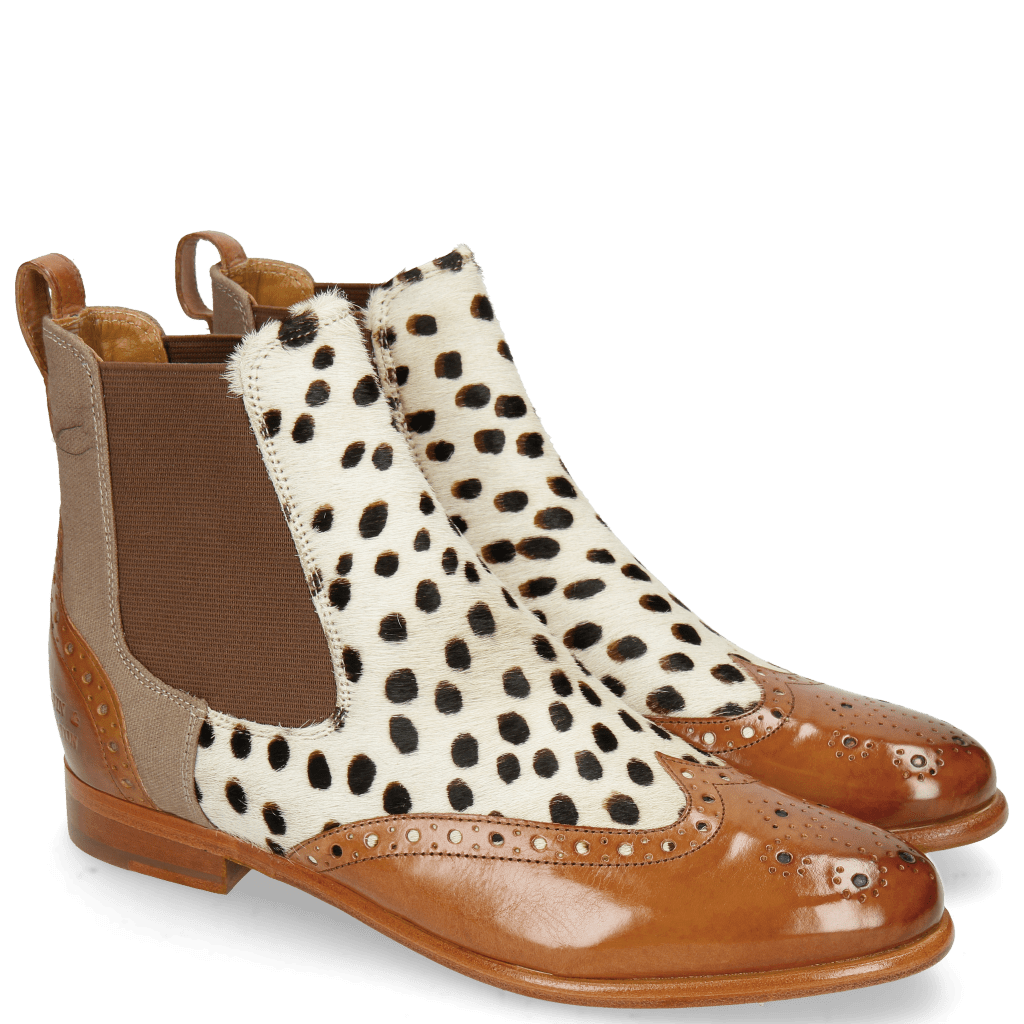 Stiefeletten Selina 29 Tan Hairon Wildcat Canvas Taupe