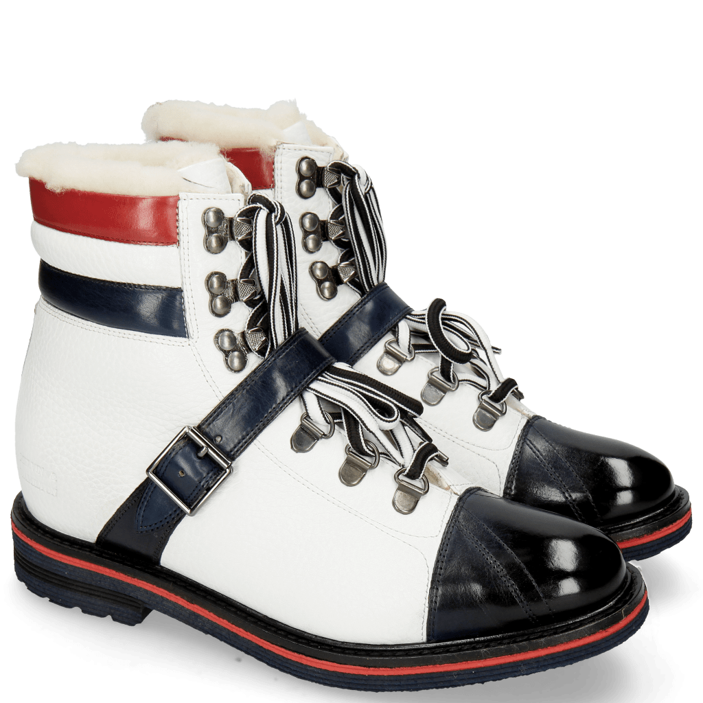 Stiefeletten Amelie 64 Navy Milled White Ruby Lining Full Fur