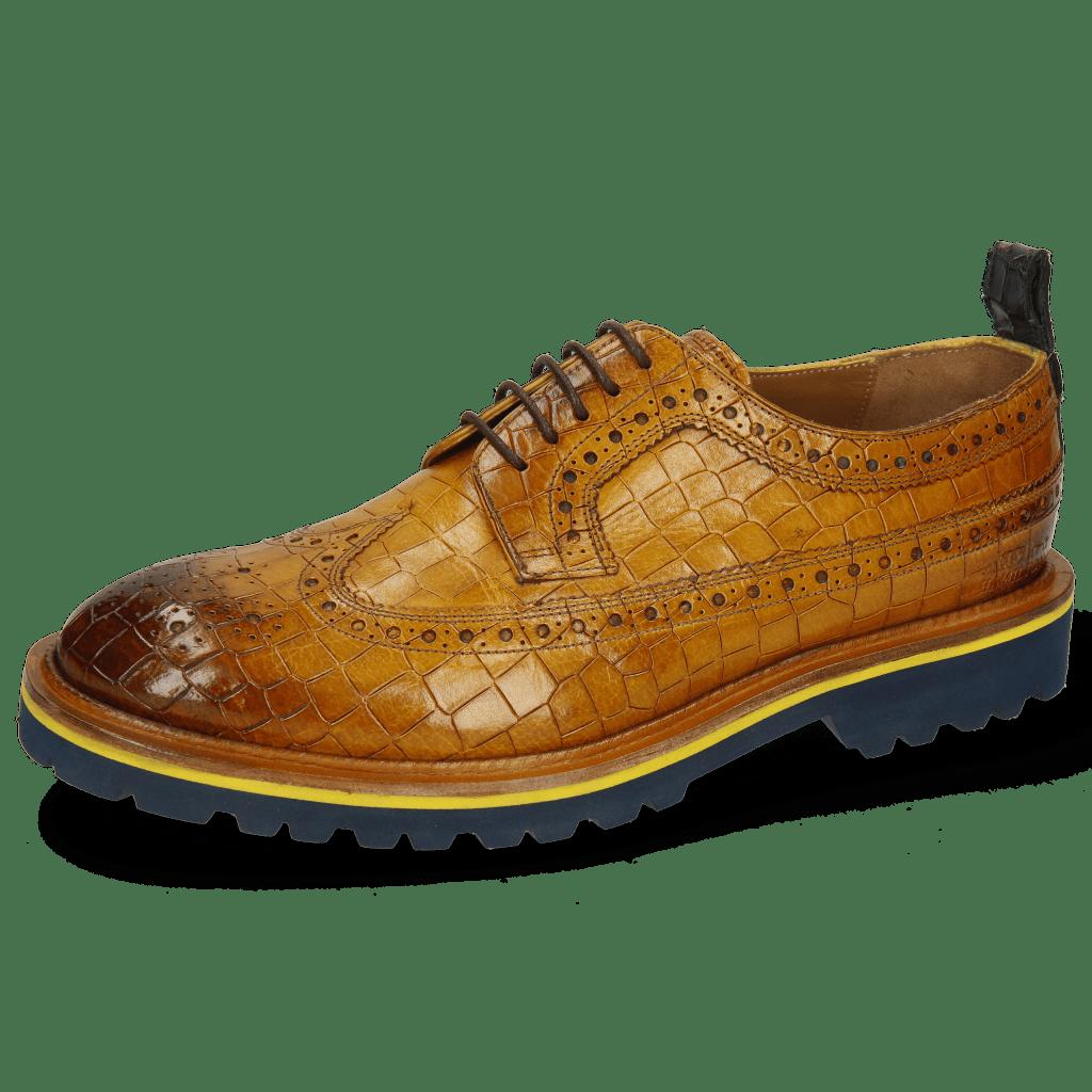 Derby Schuhe Matthew 23 Crock Indy Yellow Dark Finishing